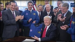 BLAST OFF! DONALD TRUMP JUST GAVE NASA A SPECIAL GIFT THAT WILL MAKE AMERICA #1 IN THE UNIVERSE!