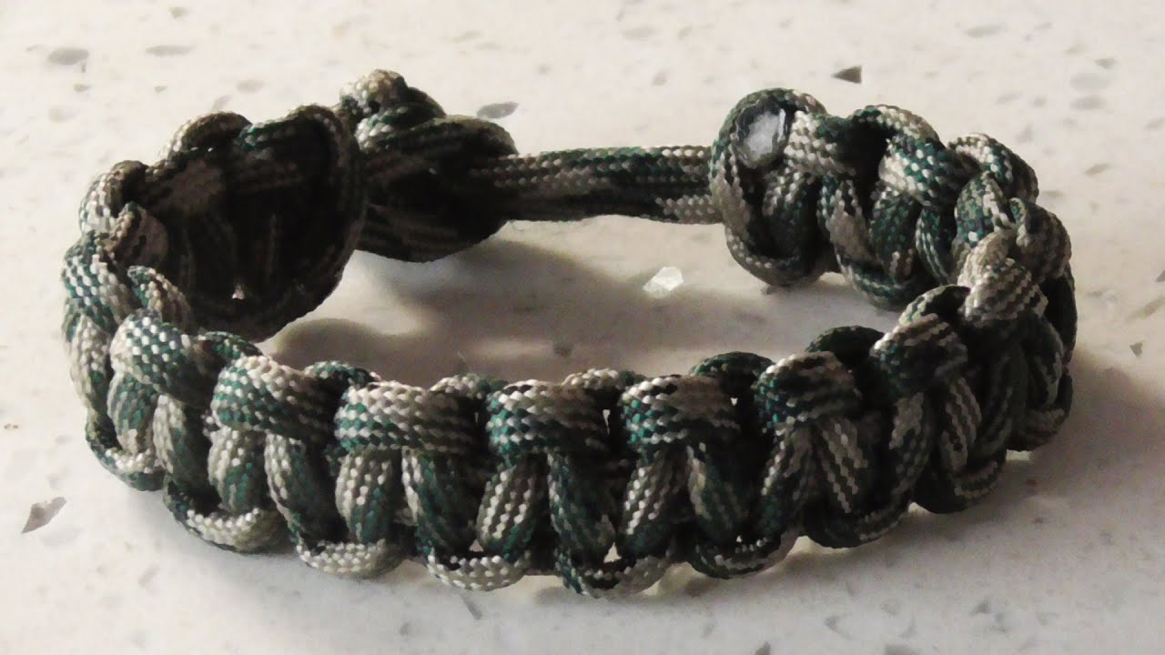 How to make a paracord bracelet without a buckle