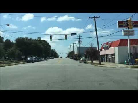 Driving Downtown Columbia South Carolina USA
