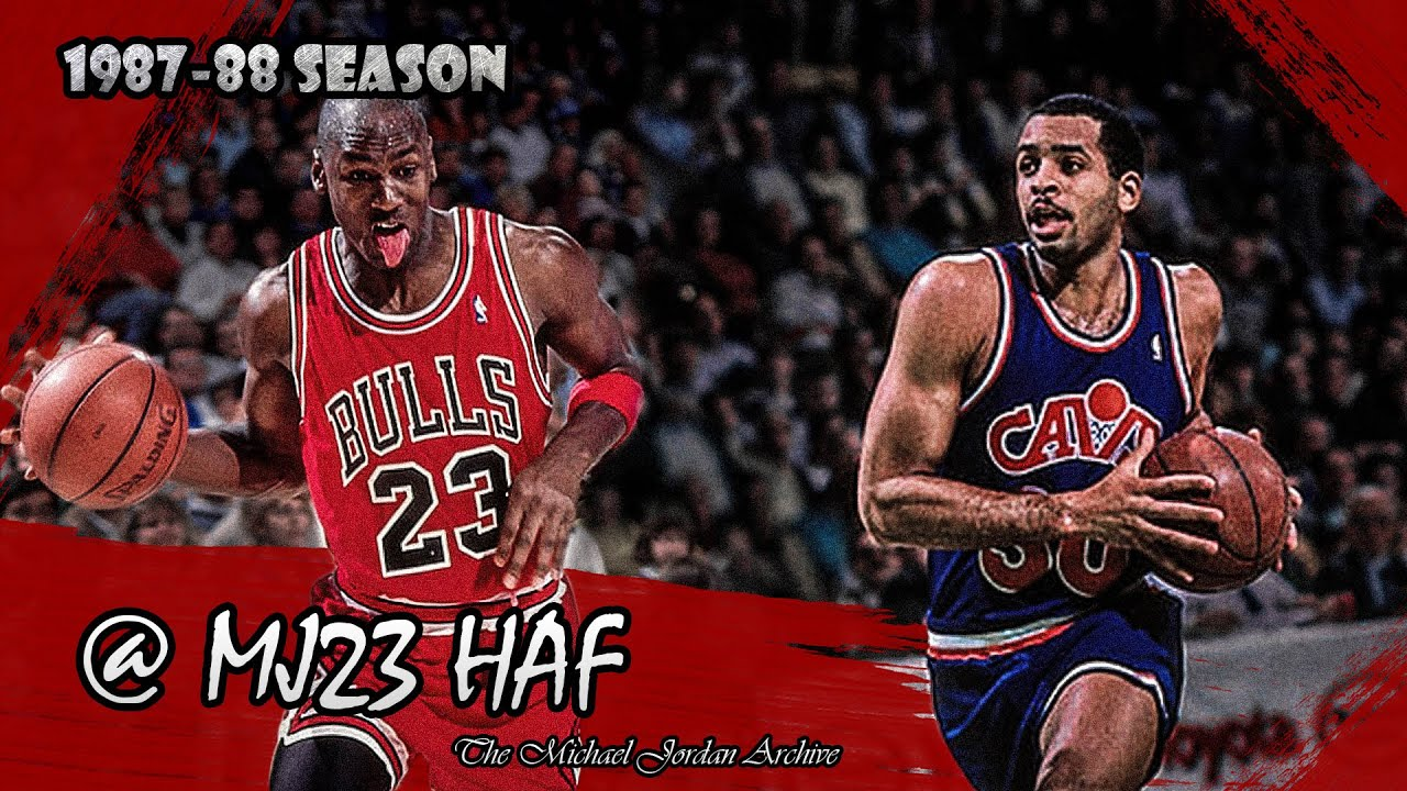 14bb471308c Michael Jordan vs Dell Curry (Stephen s Father) Highlights Bulls vs Cavs  (1988.03.25) - 65pts Total!