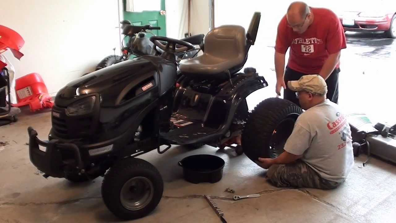 How To:(Hydro-Gear G730 Oil) Craftsman GT5000 Tractor