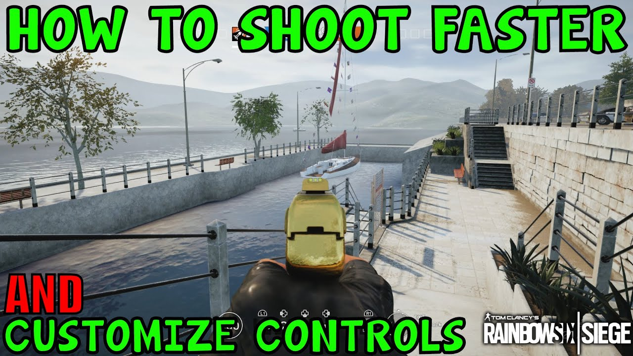 HOW TO SHOOT FASTER AND CUSTOMIZE CONTROLS (Console Only) - Rainbow Six  Siege (Skull Rain DLC)