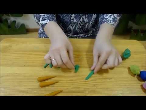 Как слепить морковку из пластилина поэтапно