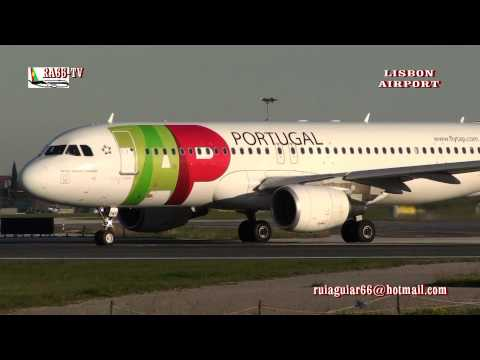HD TV Airport Aeroporto de Lisboa aterragens descolagens Lisbon Airport takeoffs landings