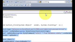 Visual C++ Tutorial 3 -Windows Forms Application: Mysql Connection Part 2