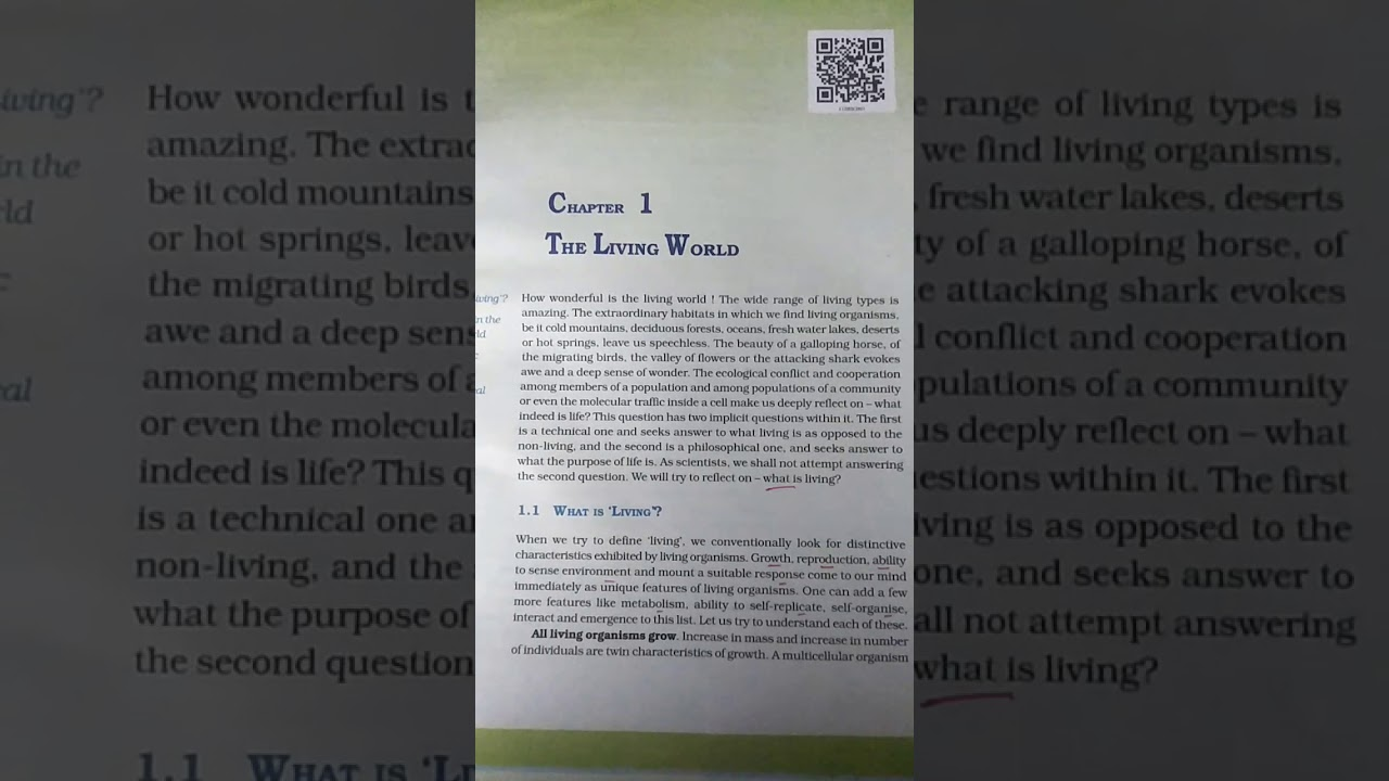 Class11. Ch1: The living world part1