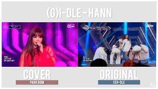 G I Dle Hann Comparison Original Vs Park Bom Queendom Cover