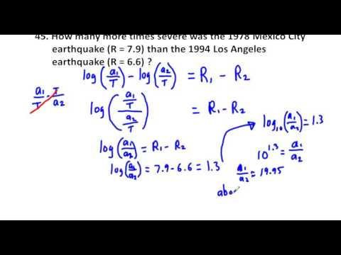 Precalculus Chapter 3.5 Exercises 39-50 Richter Scale, Sound Intensity, Newton's Law of Cooling