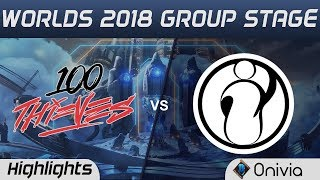 Video 100 vs IG Highlights Worlds 2018 Group Stage 100Thieves vs Invictus Gaming by Onivia download MP3, 3GP, MP4, WEBM, AVI, FLV Oktober 2018