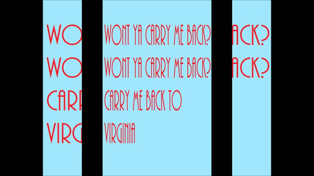 Old Crow Medicine Show – Carry Me Back to Virginia Lyrics ...