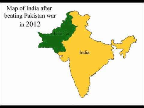 NEW MAP OF INDIA AND PAKISTAN IN A MUST SEE VIDEO THE TRUTH - World map pakistan