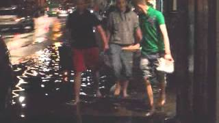 Very High Tide Causes Flooding in Guernsey 10/9/10