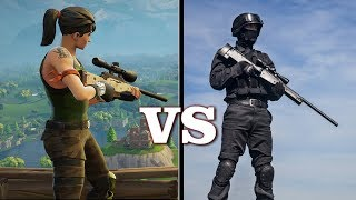 Fortnite Sniping vs Real Life