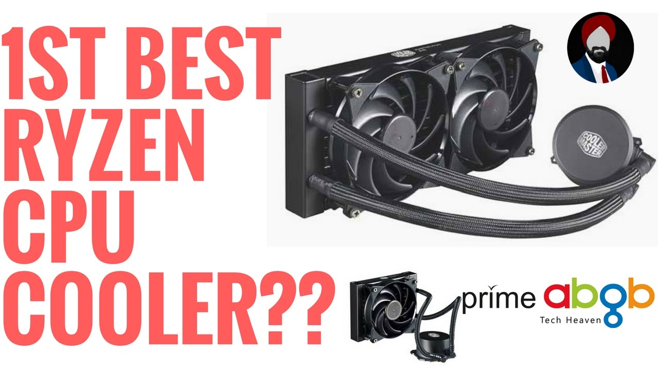 Cooler Master Master Liquid Cpu Cooler 120mm 240mm Am4 Ryzen Youtube