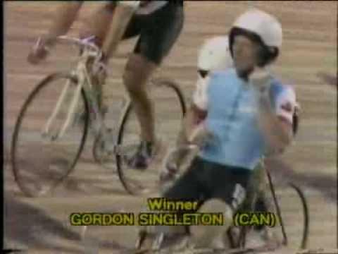 1982 Track World Keirin Final. Singleton v Clark