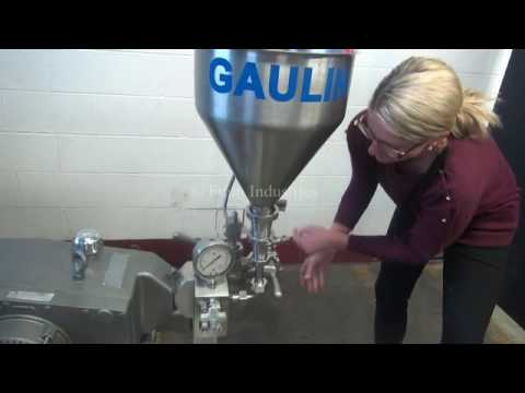 APV Gaulin Two Stage Homogenizer Demonstration