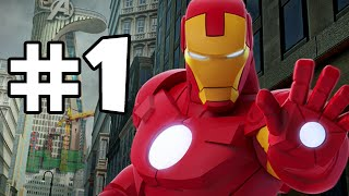 DISNEY INFINITY 2 MARVEL SUPERHEROES - AVENGERS PLAYSET - PART 1
