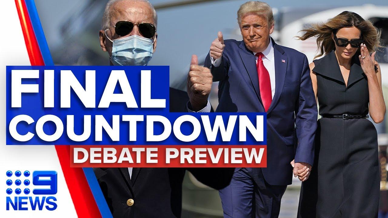 Trump vs. Biden: State of play ahead of the final US presidential debate | 9 News Australia
