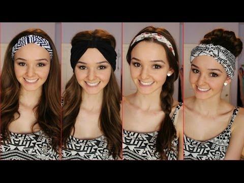 Four Ways to Wear a Headband /Headwrap ♡ | thekelliworldtv