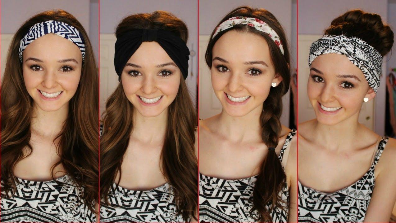 Four Ways To Wear A Headband Headwrap ♡ Thekelliworldtv YouTube