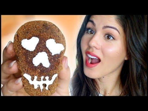 Halloween Skull Cookies | How to Cook