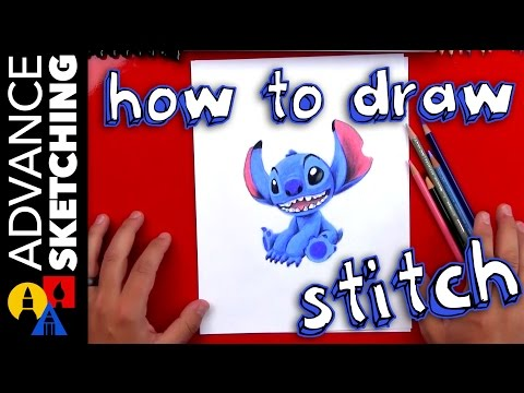 How To Draw Stitch - Time-lapse