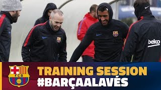 Recovery work ahead of Alavés game