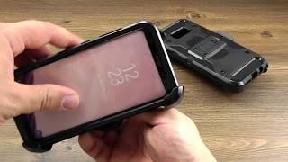 ОБЗОР: Противоударный Чехол-Накладка для Samsung Galaxy S8 Plus SM-G955 с Подставкой и Кобурой