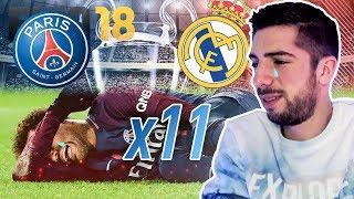 LE PSG PEUT-IL SE QUALIFIER AVEC SES 11 JOUEURS BLESSÉS ?? PSG - REAL MADRID FIFA 18