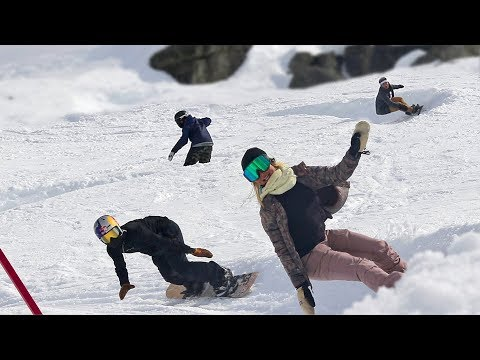 SNOWBOARDING WITH THESE LEGENDS! ft Chloe Kim, Toby Miller, Rakai