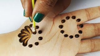 आसान राखी मेहँदी लगाना सीखे - कॉटन बड्स से मेहँदी लगाने की ट्रिक, New Cotton Bud Mehndi Design Trick