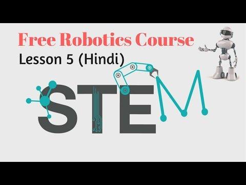 Online Robotics Course Lesson 5 (Hindi) Robot Line Drawing Program