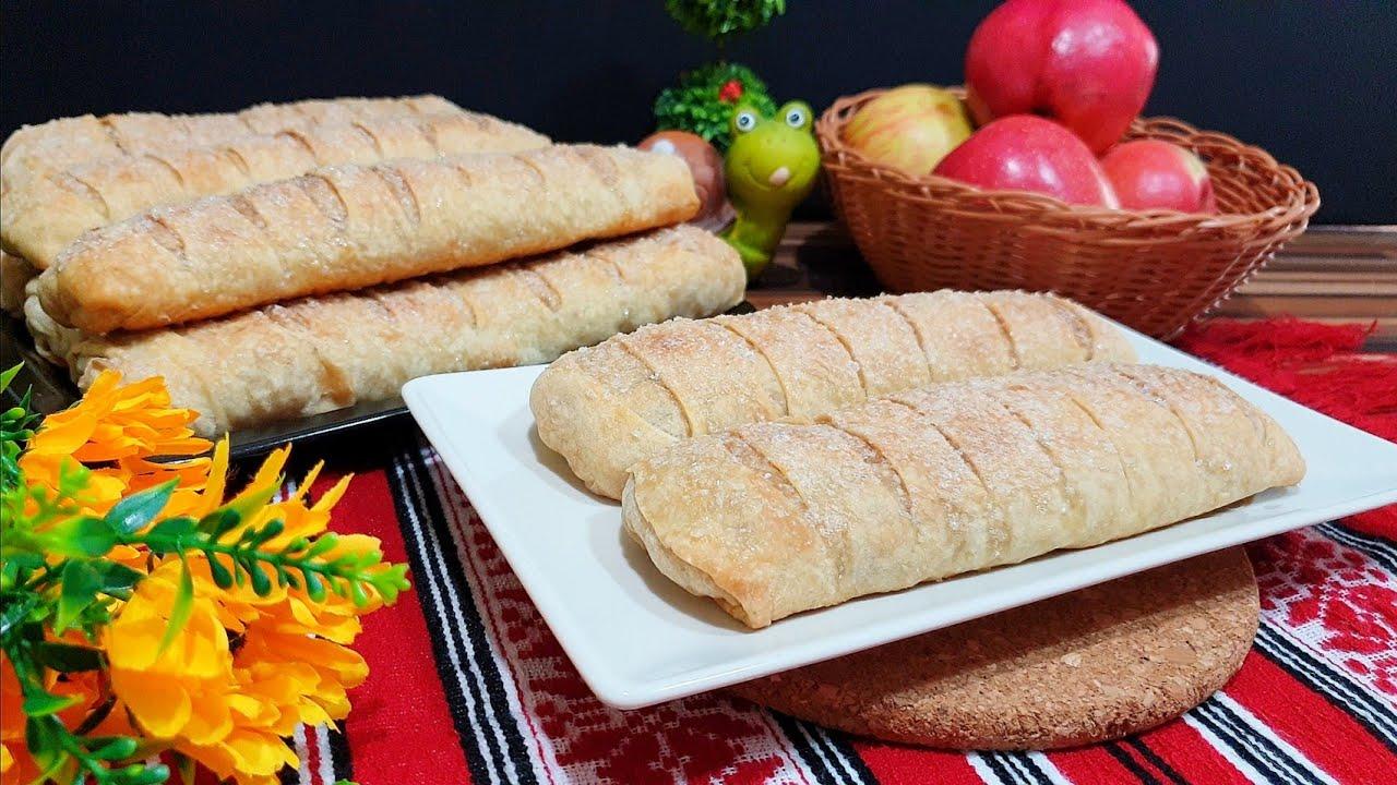Strudel cu Mere/ Foi de Placinta facute in Casa/ Reteta de Post | AdeLina's Kitchen