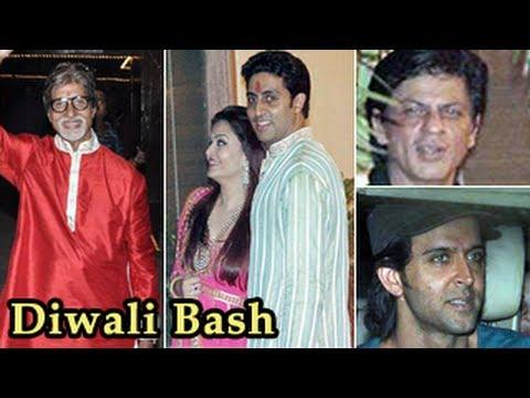 Bollywood Celebs at Amitabh Bachchan Diwali Bash