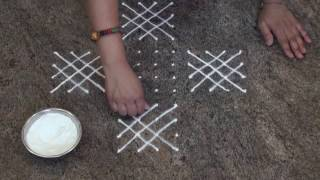 Simple And Easy Rangoli/ Daily Rangoli/Chukki Rangoli with 12 dots