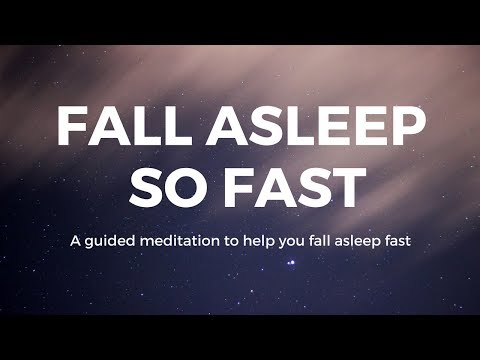 FALL ASLEEP so FAST A guided meditation to help you fall asleep fast