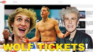JAKE PAUL, LOGAN PAUL & selling wolf tickets