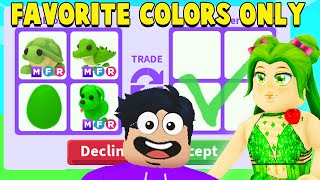 I Traded RANDOM Players Pets In Their FAVORITE COLOR In Adopt Me! (PART 2)
