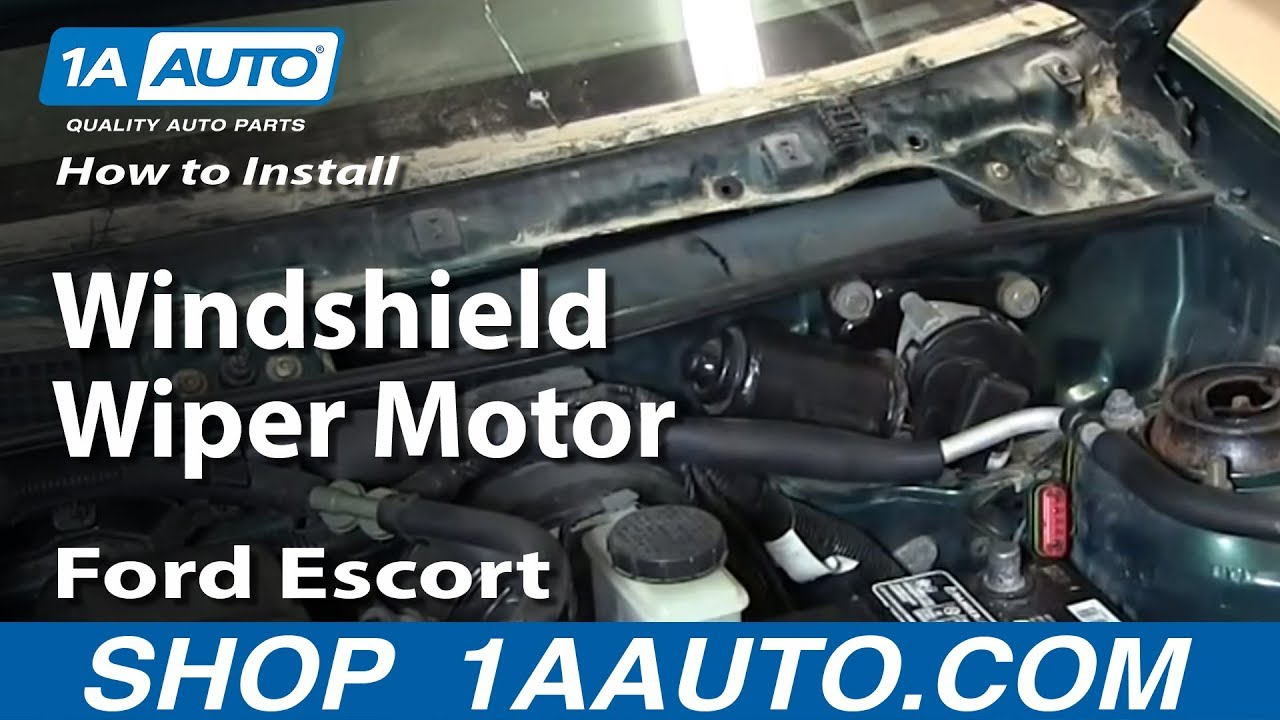 Wiper Motor Wiring Diagram Ford 1969 Mustang Under Dash How To Install Replace Windshield 1998-03 Escort Zx2 - Youtube