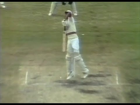 Savage full toss at the neck of a Pakistan batsman by JEFF THOMSON