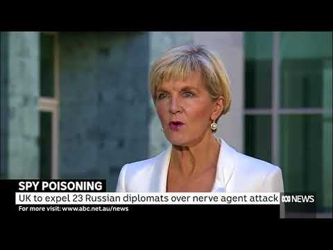 'Outraged' Julie Bishop threatens Russia with questions over spy poisoning