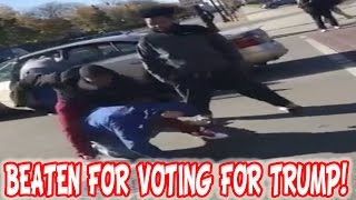Trump Supporter Is Pulled Out Of His Car And BRUTALLY BEATEN AND ROBBED TWICE!