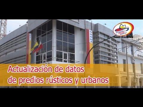 Actualización de datos de predios rústicos y urbanos