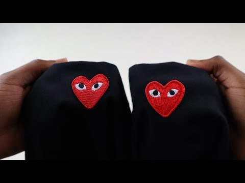 9d86e424effea How to spot fake Comme des Garcons | Real vs replica CDG Play t ...
