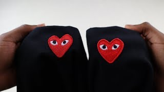 How to spot fake Comme des Garcons | Real vs replica CDG Play t shirt