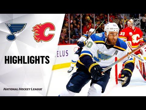 NHL Highlights | Blues @ Flames 11/09/19