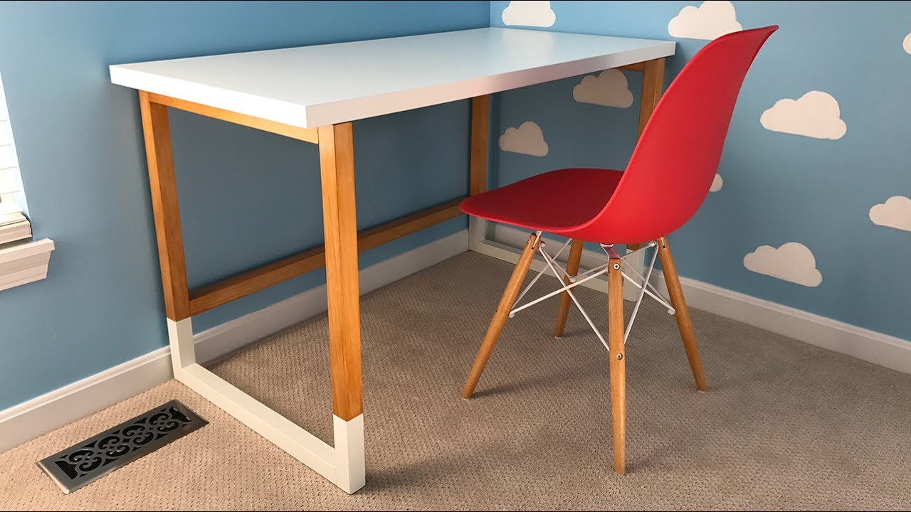 Build A Modern Desk With An Ikea Desktop