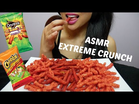 ASMR Hot Cheetos + Spicy Lime Doritos ( *EXTREME CRUNCH Eating Sounds) | SAS-ASMR