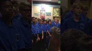 We're the Men 7th grade Men's Choir Henderson Middle with Dale Duncan