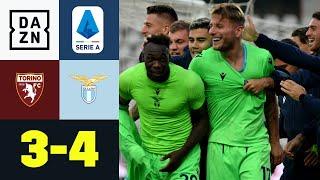 90.+5 und 90.+8! Immobile und Co. gewinnen Tor-Spektakel: FC Turin - Lazio Rom 3:4 | Serie A | DAZN